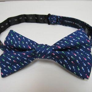 Tommy Hilfiger Fish Print Bow Tie